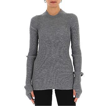 Maison Margiela S51ha1071s17464854m Women's Grey Wool Sweater