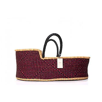 Cosy Coco Natural Handwoven Baby Moses Basket & Mattress | Hibiscus