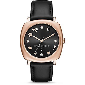 Marc Jacobs MJ1565 Mandy Black Leather Strap Ladies Watch