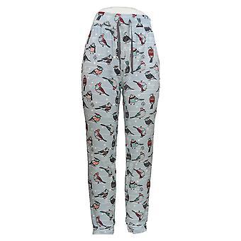 Cuddl Duds Women's Pyjama Pants Ultra Pluche Velvet Fleece Blue A369297