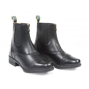 Shires Moretta Adults Rosetta Zip Paddock Boots - Black
