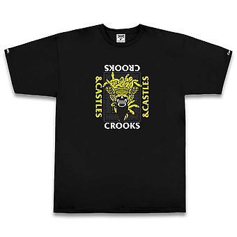 Crooks & Castles Skull Medusa T-shirt Black