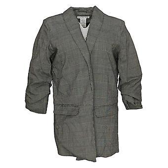 K ジョーダン レディース&アポス スーツ ジャケット/ブレイザー プレイド グレー/ブラック