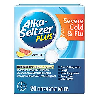 Alka-seltzer plus severe cold & flu, tablets, citrus, 20 ea *