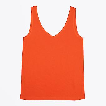 Ania Schierholt  - V-Neck Vest Top - Orange