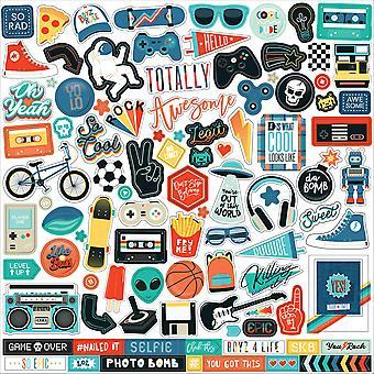 Echo Park Teen Spirit Boy 12x12 Inch Element Sticker