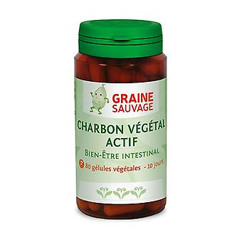 Active charcoal 80 vegetable capsules