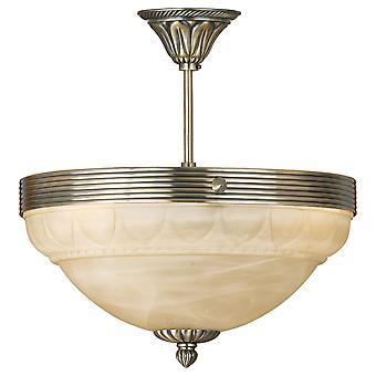 Eglo - Marbella 3 traditionelle Lichtdecke Licht bündig möblierte Messing EG85856