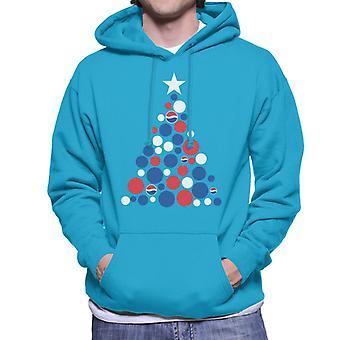 Pepsi Christmas Tree Dots Homme-apos;s Sweatshirt à capuchon