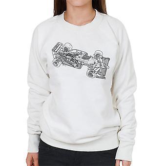 Immagini Motorsport Benetton B186 1986 Contorno Donne's Sweatshirt