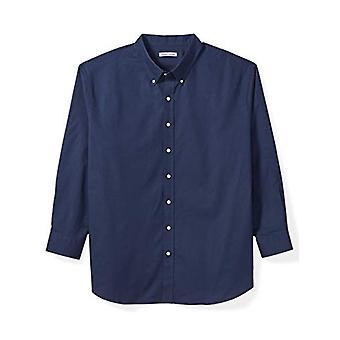 أساسيات الرجال & apos&ق كبيرة وطويلة القامة قميص أكسفورد طويل الأكمام تناسب من قبل DXL, البحرية,...