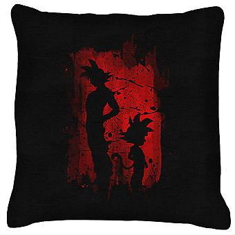 Son Goku Sihouette Red Shadow Dragon Ball Z Cushion