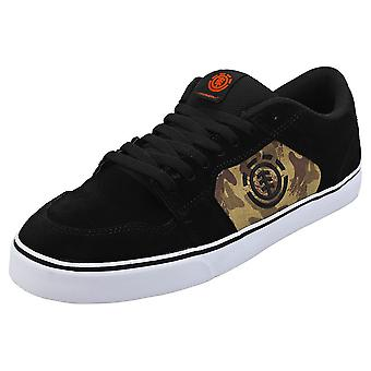 Element Heatley Mens Skate Trainers in Black Camouflage