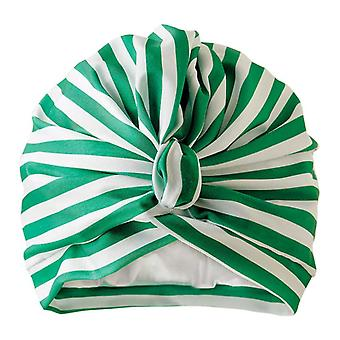 Dilly Daydream Stripey Green Luxury Shower Turban