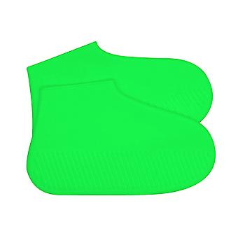 Silicone Waterproof Shoe Covers Green Medium