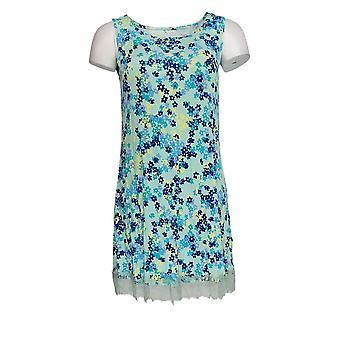 LOGO Layers par Lori Goldstein Women-apos;s Top Printed Knit Tank Blue A346419