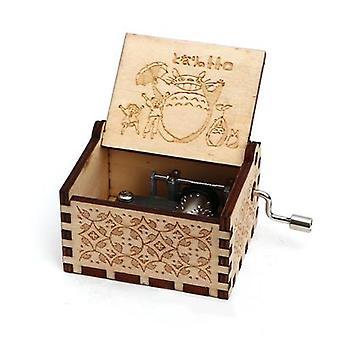 Min granne Totoro trägraverad Handgjord Vintage Music Box