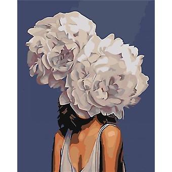 Malerei von Zahlen passende Blume, Diy Hand Zeichnung Leinwand Bild