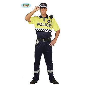 Guirca - la police police adulte Costume homme costume