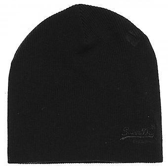 Superdry Orange Label Basic Beanie Hat Black 02A