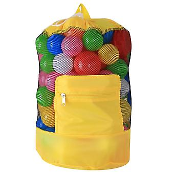 Children's Beach Beach Beach Mesh Tote Bag Toy Organizador- Extra Large Sand Away Beach Shell Storage Foldable