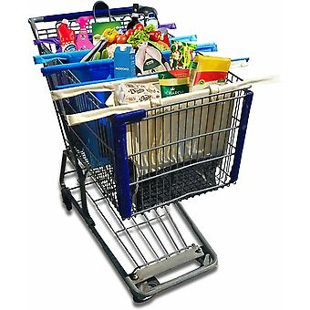 Spura Home Eco Friendly Reusable Multi-Color Shopping Cart Trolley Bag for Multi-function