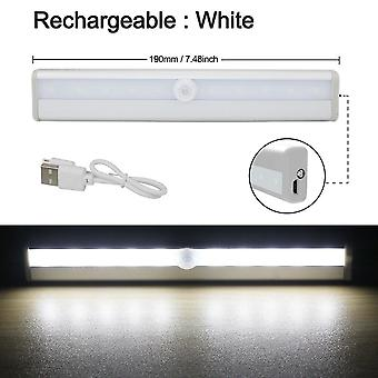 10 Led Wireless Motion Sensor Cabinet Light, Magnetic Stick-on Usb Rechargeable