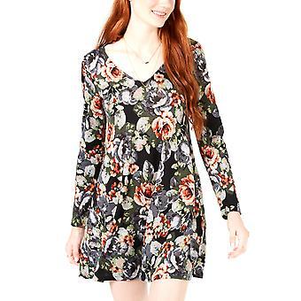 BCX | Floral-Chiffon Lace-Back Dress
