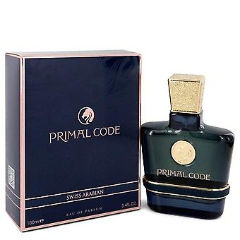 Código primigenio eau de parfum spray por swiss arabian 100 ml