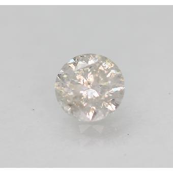 Certified 0.56 Carat G SI3 Round Brilliant Enhanced Natural Loose Diamond 5.13mm