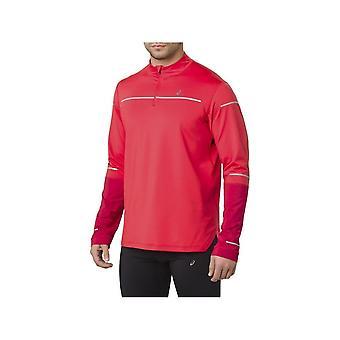 アシックスライトショー冬LS 12ジップトップ2011A040600ランニングすべての年の男性のスウェットシャツ