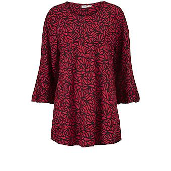 Masai Kleding Bet Red Patterned Top