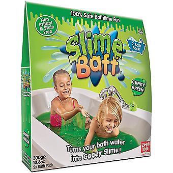 Slime Baff Harmless Bright Colours Bath Powder With Dissolver, Green