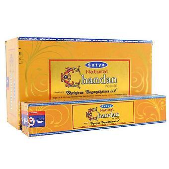 Satya Natural Chandan Incense Sticks (Box Of 12 Packs)