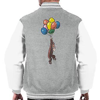 Neugierige George Ballon fliegen Hut Men's Varsity Jacke