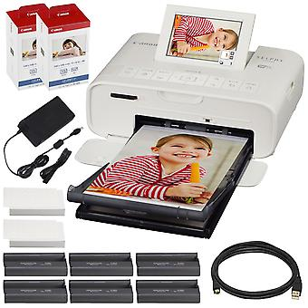 Canon selphy cp1300 compact photo printer (black) with wifi and accessory bundle w/ 2x canon color ink and paper set ps36947