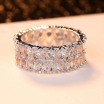 Luxury Fashion Silver Color Love Engagement Ring Vintage Wedding Rings