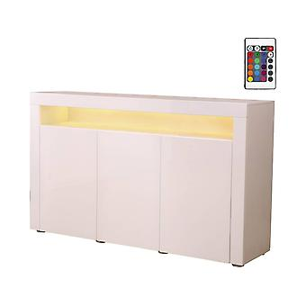 Aparador LED BOGOTA - 155 x 40 x 92 cm - Blanco