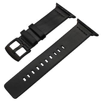 Italiensk fedtet læder urbånd sort eller brun til æble iwatch 38mm 40mm 42mm 44mm serie 5 4 3 2 1