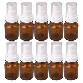 10Pcs 80ml Amber Empty Plastic Bottle Refillable Mist Spray Containers