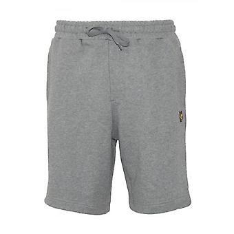 Lyle en Scott Grey Jersey Katoenen Shorts