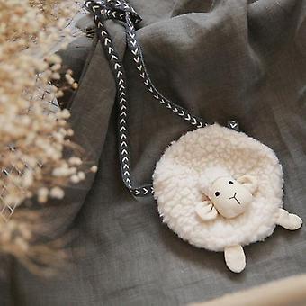 Toddler Cute Sheep Shape Crossbody Bag / Mini Coin Purse Wallet / Plush Soft