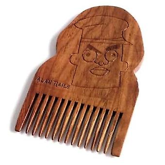 Rick & Morty Alan Rails Peigne barbe en bois
