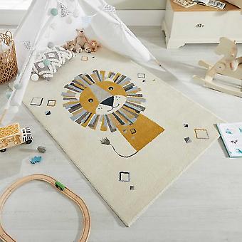 Cadiz Lion Childrens Nursery Rugs In Multi