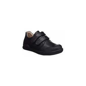 BIOMECANICS Double Velcro School Shoe Benjamin  With Bumper Toe