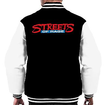 Sega Streets Of Rage Logo Menn's Varsity Jacket