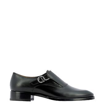 Christian Louboutin 1210449bk01 Men's Black Leather Monk Strap Shoes