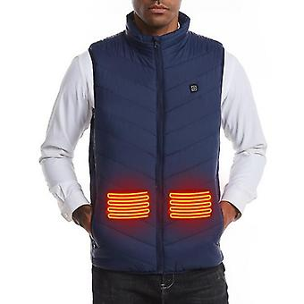 Men Autumn Winter Smart Heating Cotton Vest, Usb Infrared, Outdoor Flexible