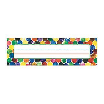Eric Carle Dots Placas de Nombre de Escritorio