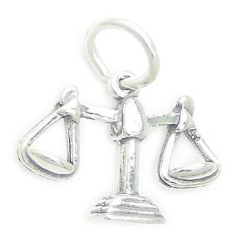 Waga Zodiaku Wagi Sterling Silver Charm .925 X 1 Libras Zodiacs Charms - 3706